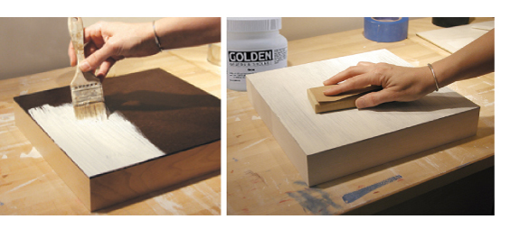 come trattare il legno con gesso acrilico per dipingere