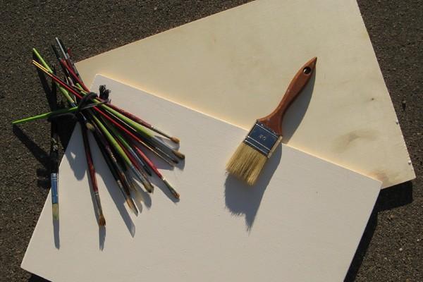 Come preparare la tavola in legno con il gesso acrilico per la pittura