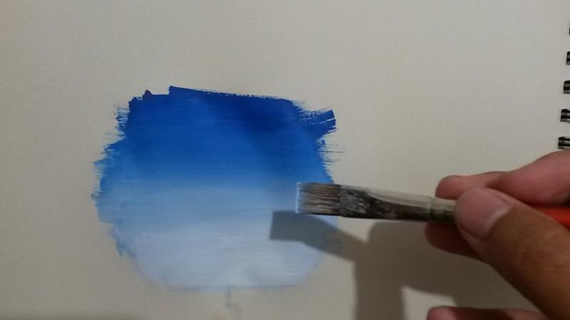 come fare una sfumatura con acrilico in pittura