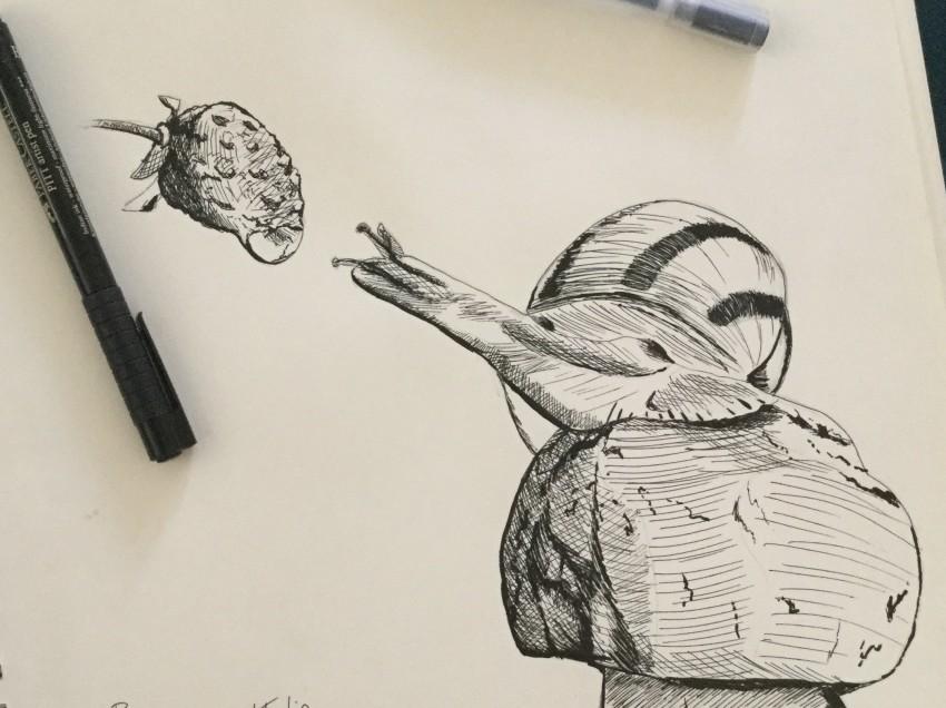 Come fare un disegno al tratto in bianco e nero