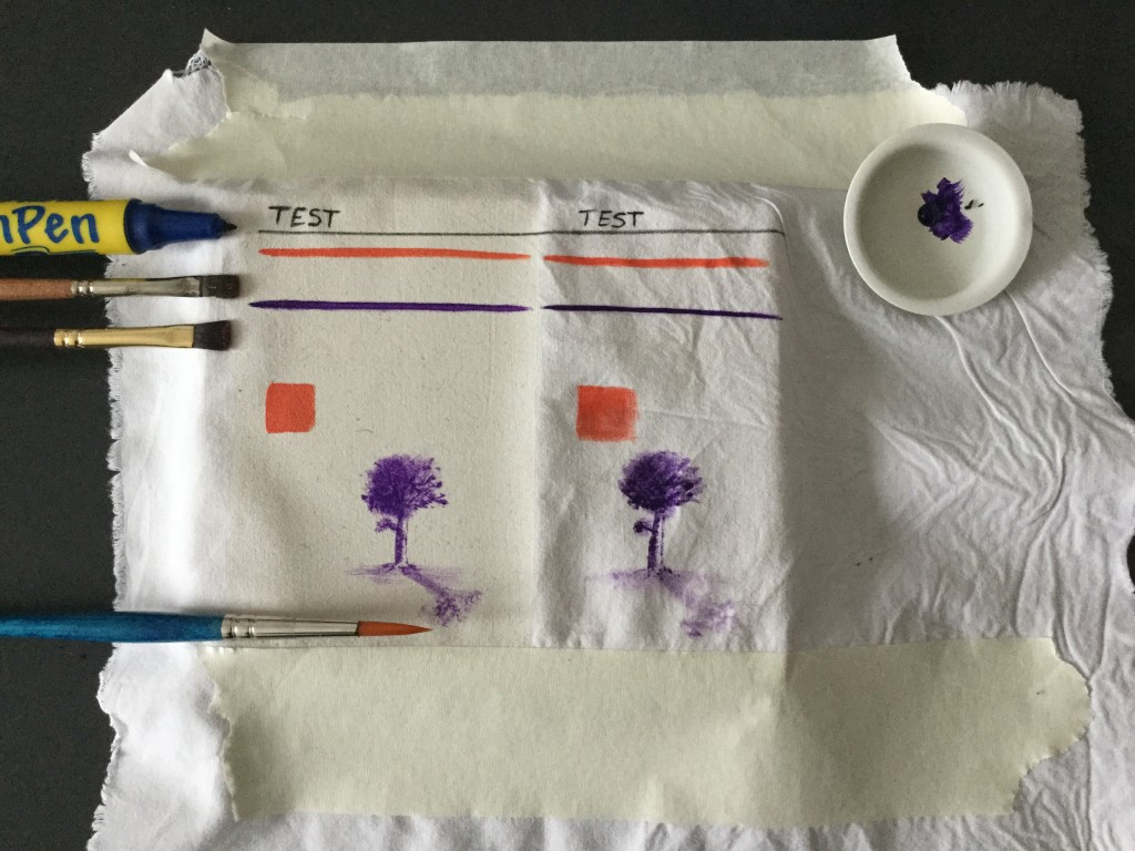 t-shirt decorata con pittura