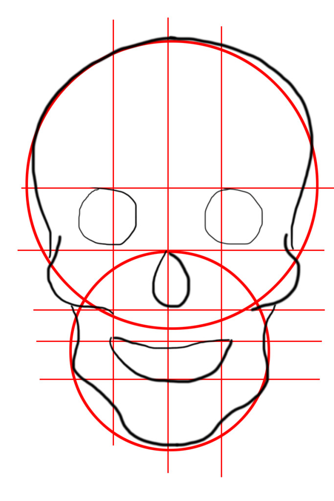 Come disegnare a mano un teschio per Halloween